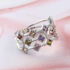 Jewelry - 925 Sterling Silver Ring faux gemstones